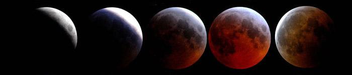 Ingresso della Luna nella fase totale dell'eclissi
