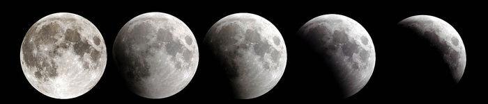 Ingresso della Luna nell'ombra della Terra