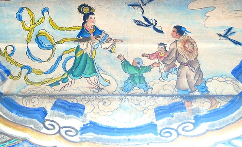 Niu Lang, il Guardiano di buoi, e Zhi Nu, la Principessa Tessitrice - Palazzo d'Estate - Pechino