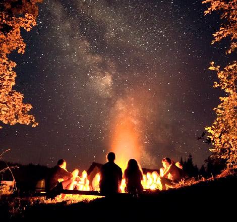 Uomo preistorico e le stelle