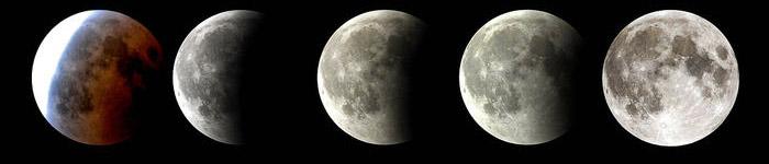 Uscita della Luna dall'ombra della Terra
