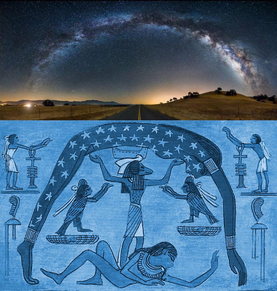 La Via Lattea e la dea egizia del cielo Nut