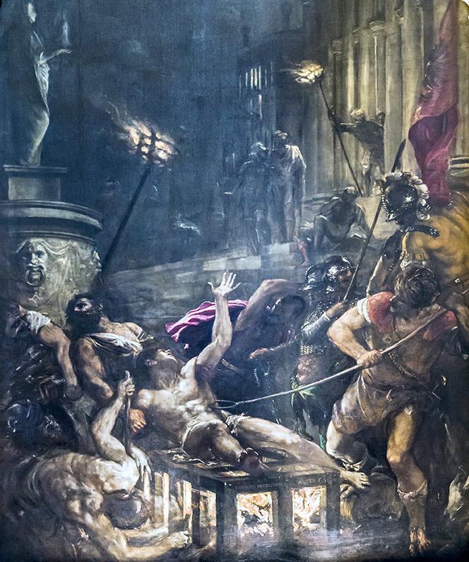 Il Martirio di San Lorenzo - Tiziano