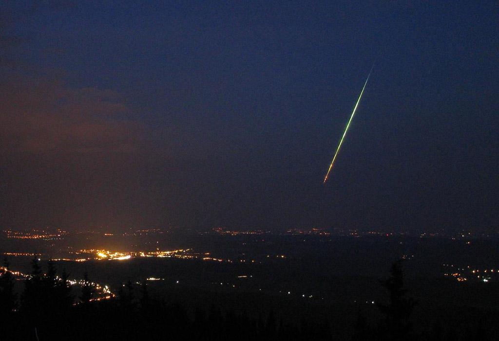 Una meteora pluriframmentata