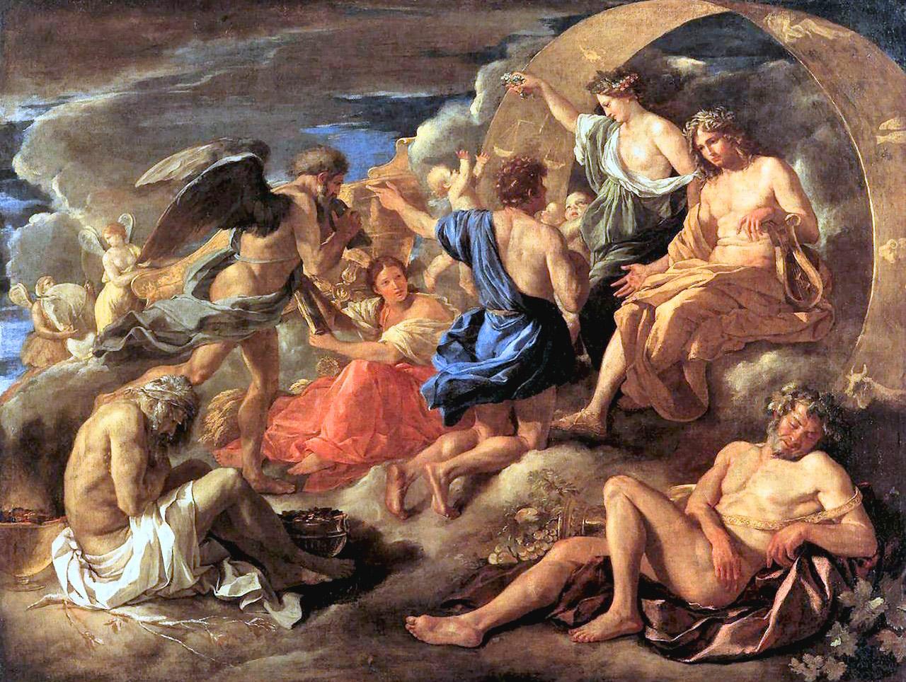 Fetonte chiede ad Apollo di poter guidare il carro del Sole - Nicolas Poussin