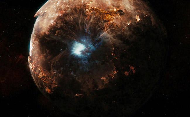 Il pianeta Vulcano divorato da un buco nero nel film Star Trek - Il futuro ha inizio