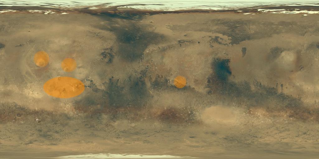 Simulazioni della deposizione dei ghiacci su Marte per obliquità dell'asse pari a 40°