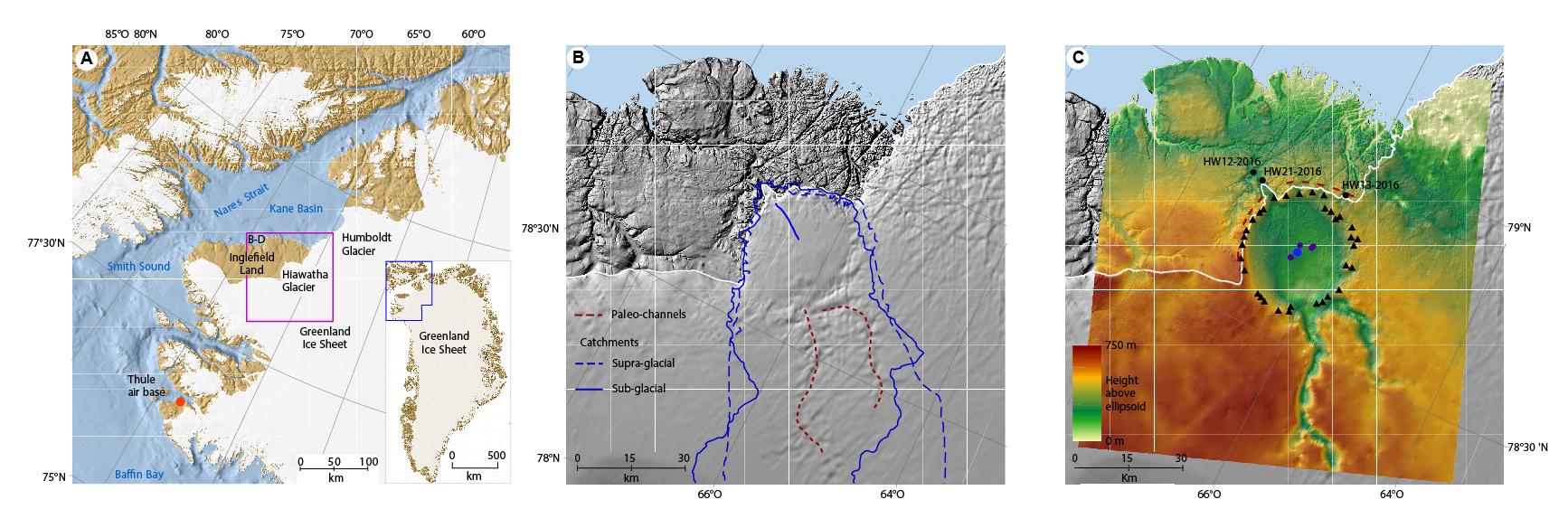 Geomorfologia e glaciologia del ghiacciaio Hiawatha, nella Groenlandia nord-occidentale