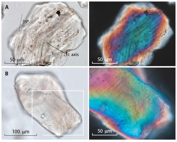 I segni di shock da impatto sui cristalli di quarzo rinvenuti nei pressi del ghiacciaio Hiawatha in Groenlandia
