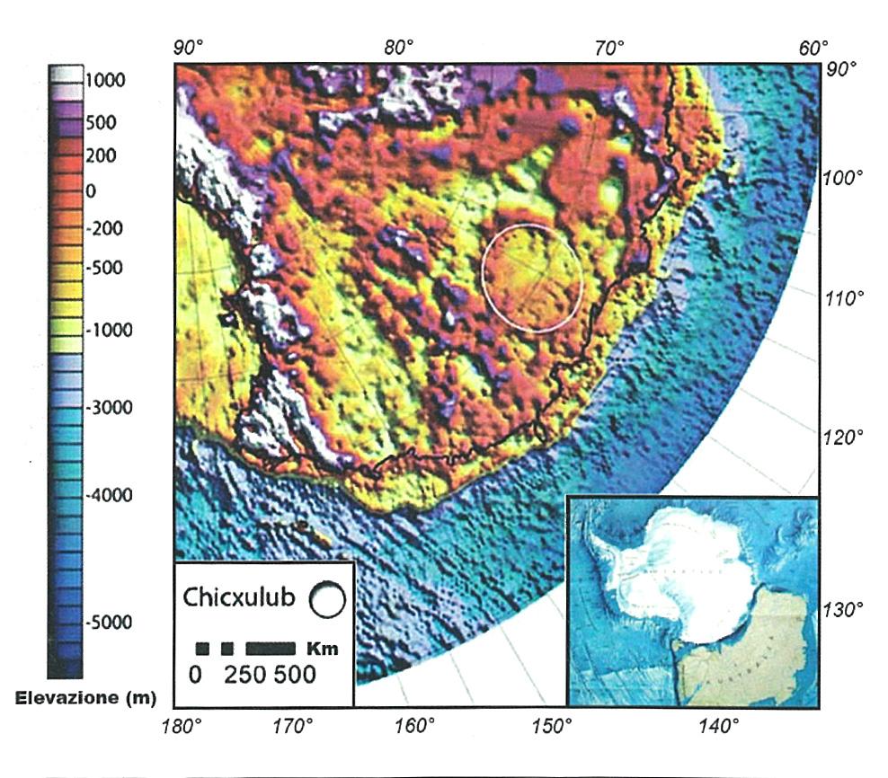 Il cratere da impatto in Artartide, risalente all'inizio del Permiano, che potrebbe aver dato il via al dominio dei dinosauri