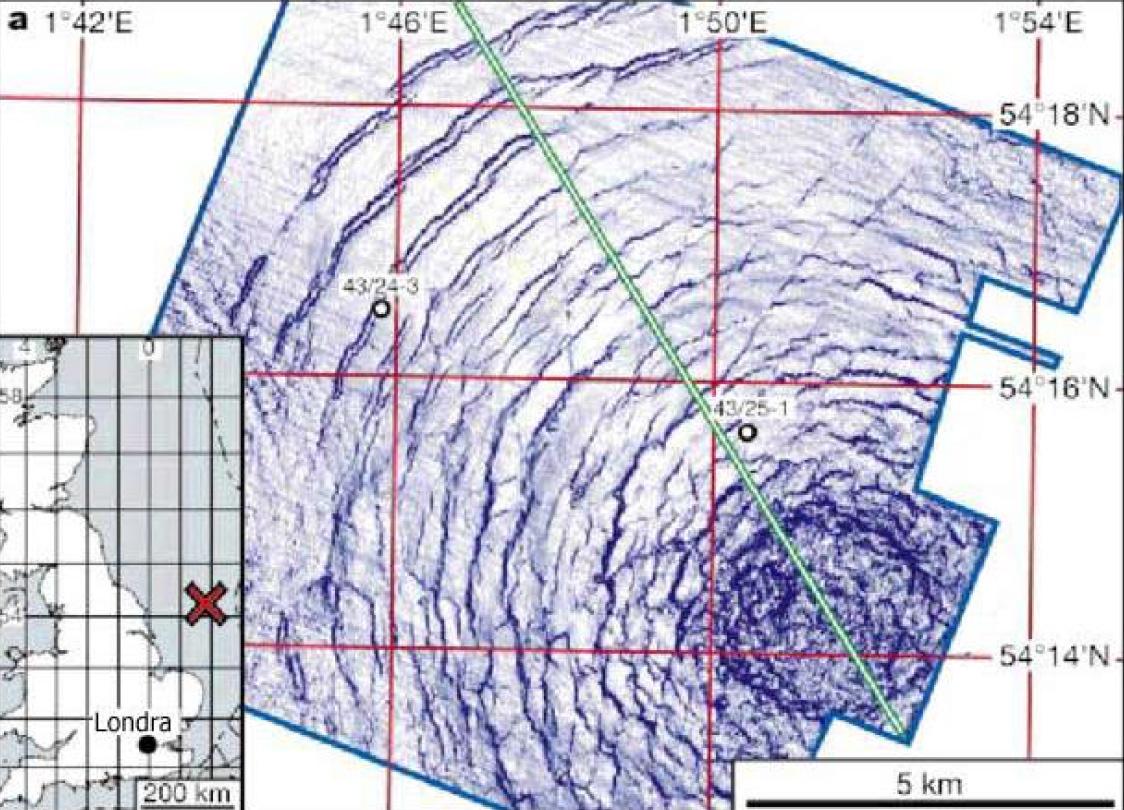 Silverpit, cratere da impatto nel mare del Nord
