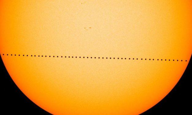 Il transito di Mercurio sul disco solare