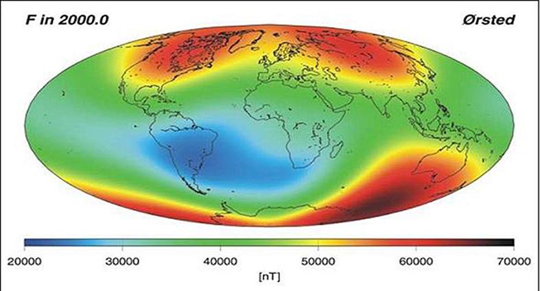 Rilevazione del campo magnetico terrestre mediante il satellite Oersted