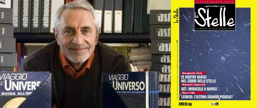 """Corrado Lamberti e la copertina del primo numero della rivista di divulgazione astronomica """"Le Stelle"""""""