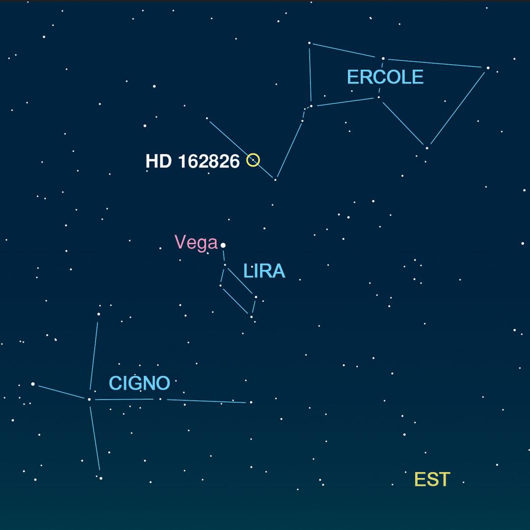 HD 162826 in Ercole, probabilmente una delle sorelle del Sole