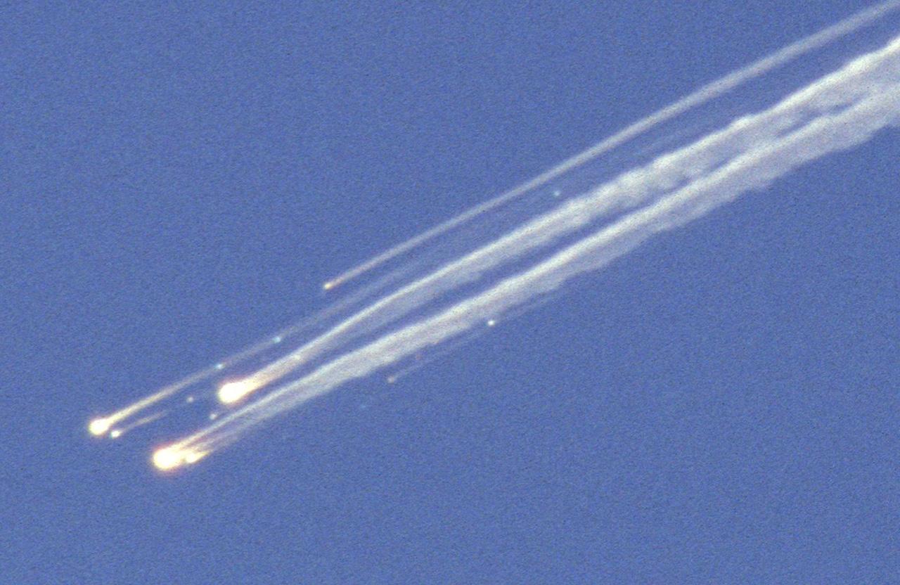 I detriti dello Shuttle Columbia dopo la distruzione in volo della navetta