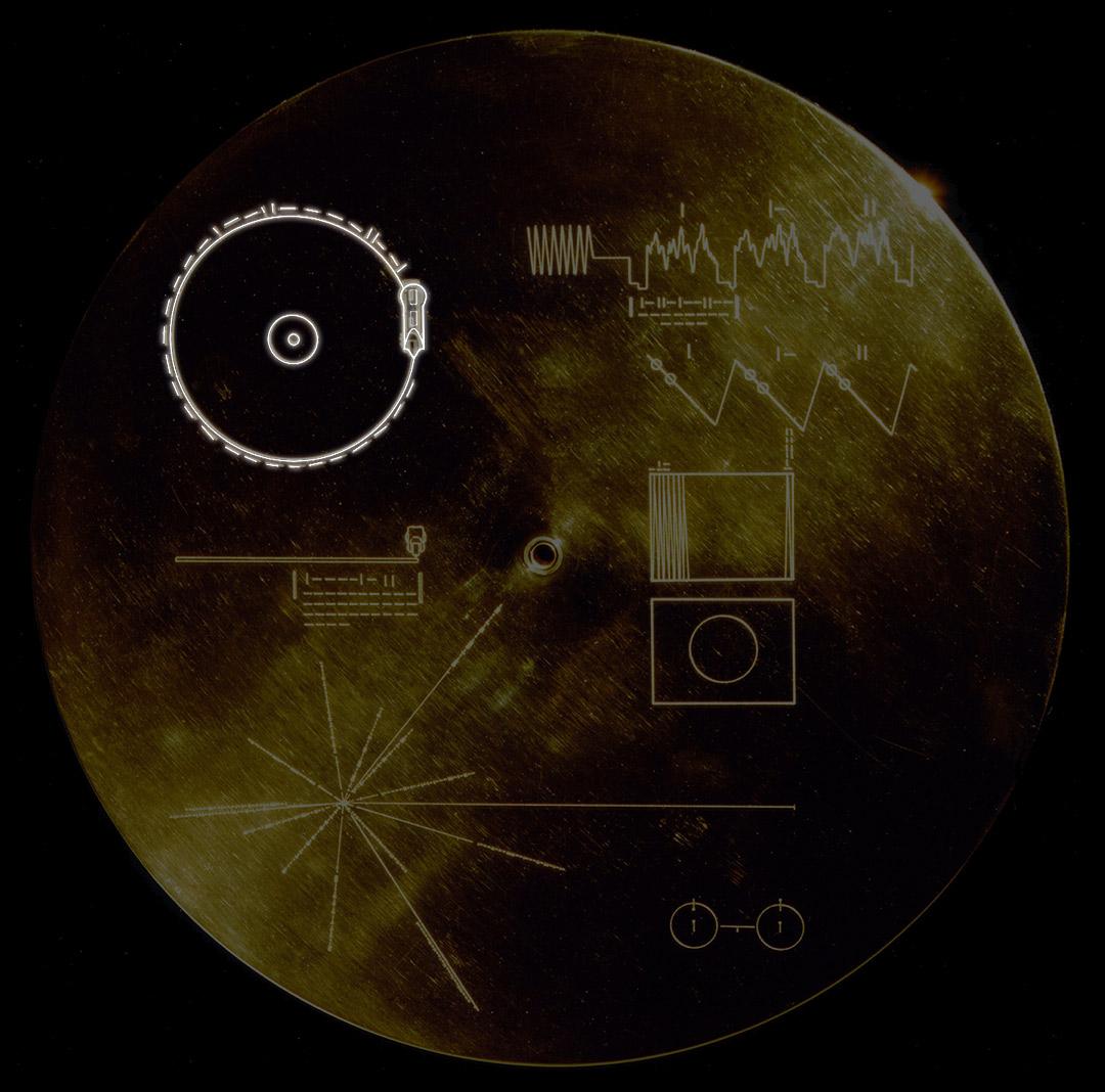 La velocità di rotazione del disco d'oro delle Voyager