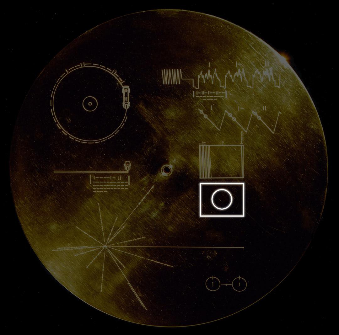 L'immagine di test che indica la correttezza del processo di conversione delle immagini contenute nel disco d'oro
